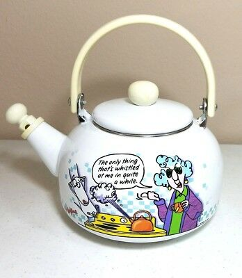 "Maxine Tea Pot Kettle  ""The only thing that's whistled at me in quite a while"""