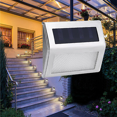 Super Bright Solar Powered Door Fence Wall Lights 3 Led Outdoor Garden Lighting