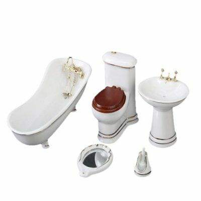 1/12 Children Doll House Bathroom Furniture Set Bath K8S8