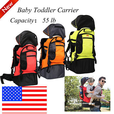 Baby Toddler Carrier Backpack w/ Stand Child Kid Raincover Sun Shade Visor