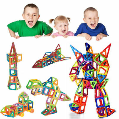 76 Pcs Magnetic Building Blocks Construction Children Toys Educational Block US