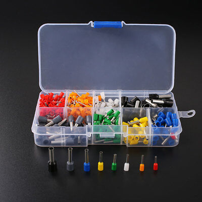 400Pcs Wire Crimp Connector Pin End Terminal Ferrules Kit Set with Box 2AB9