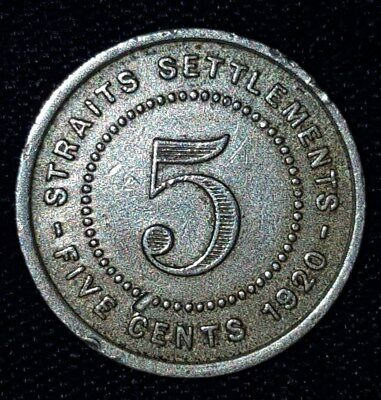 1920, 5 Cents from the Straits Settlements.  No Reserve!