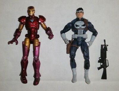 """Marvel Universe Target Exclusive 3.75"""" loose figures: IRON MAN VS THE PUNISHER"""
