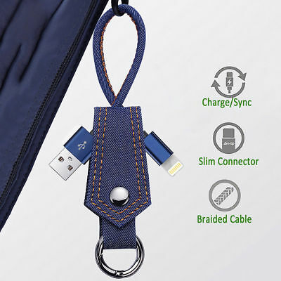 Keyring Phone Charger Data Cable Micro USB Type-C For Samsung S8/S8 Plus iPhone