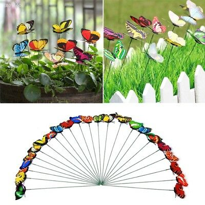 5Pcs Colorful 3D Butterfly Home Yard Lawn Decoration Garden DIY Lawn Craft 6C41