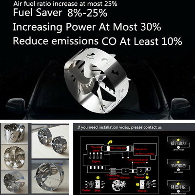 50-55MM Car Gas Saver Turbocharger Fuel Saver Oil Accelerator Stainless Steel