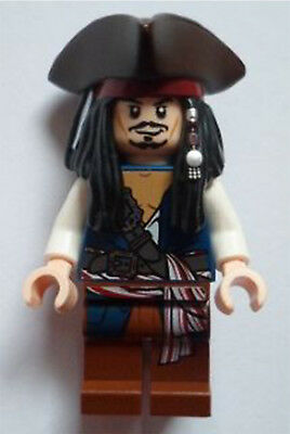Lego Pirates of the Caribbean Captain Jack Sparrow poc024 From 30133 Minifigure