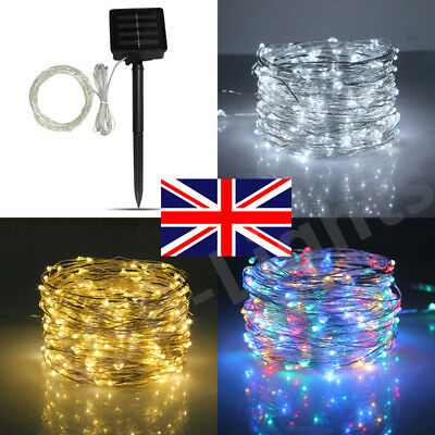 Solar Power Fairy LED Light String Strip Outdoor Battery Copper Wire Xmas Decor