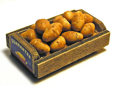 Dollhouse Miniature Crate of Potatoes - Handmade 1:12 scale