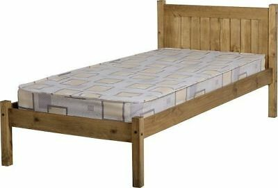 Seconique Maya Pine Single Bed 3ft 90cm - Corona Solid Waxed Pine
