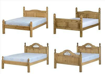 Seconique Corona Wooden Beds - 3ft, 4ft, 4ft6, 5ft, Low & High End - Waxed Pine