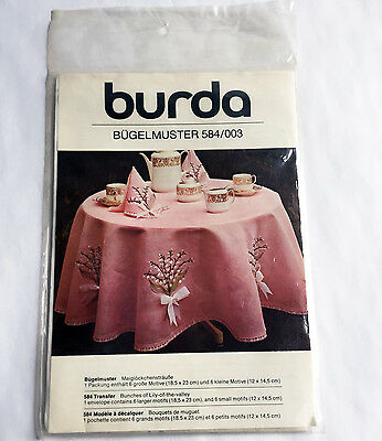 Lily-of-the-Valley Transfer Burda Bugelmuster 584/003 for embroidery