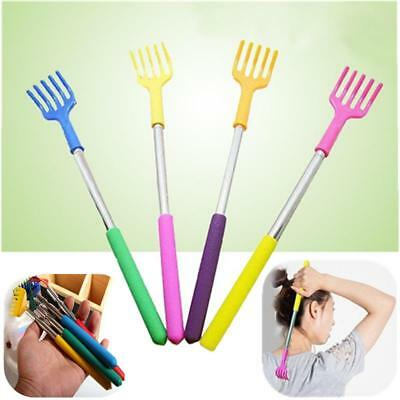 Stainless Steel Telescopic Itching Back Scratcher Handle Massager Tools 2FAE