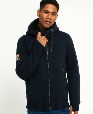 New Mens Superdry Expedition Ziphood Navy Marl