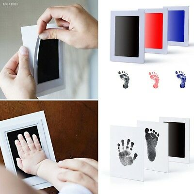 Baby New Born Safe Inkless Touch Footprint Handprint Ink Pad Non Toxic 0EA3