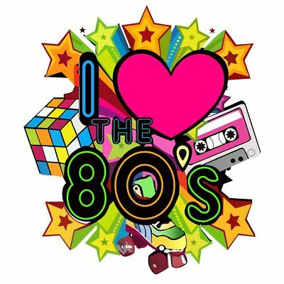 I Love The 80 Retro Back to 1980s Iron on T-Shirt Transfer Rock Star 6021758 ®