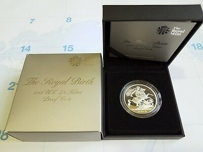 2013 Uk Royal Birth £5 Silver Proof Sovereign Coin