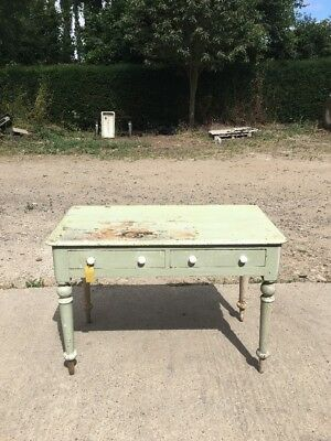 Antique Victorian Pine Hall Table