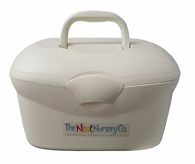 The Neat Nursery Oval Baby Box Pearl Baby Bath Or Changing Box NEW