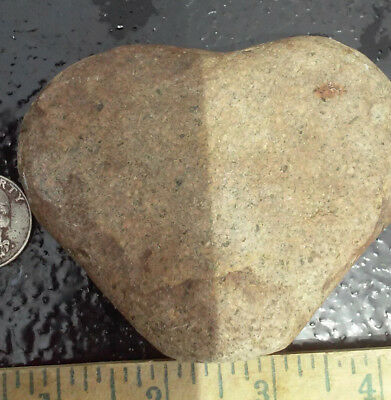 FLAWLESS Natural Heart Shaped River Rock! Nice Color! +EXTRAS!