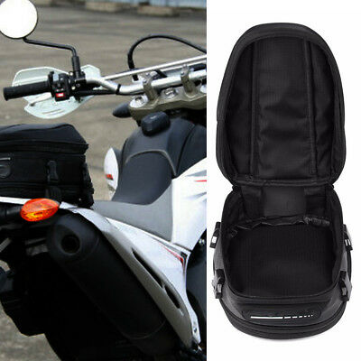 Motorcycle Large Rear Carry Bag Zipper Pockets Motorbike Luggage Tail Rack Pack