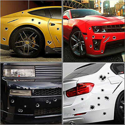 3D Funny Bullet Hole Car Stickers Body Side Decal Sticker Decal Hot Selling