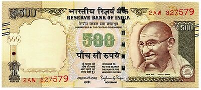 INDIA 500 Rupees 2016 P NEW Letter R UNC Banknote