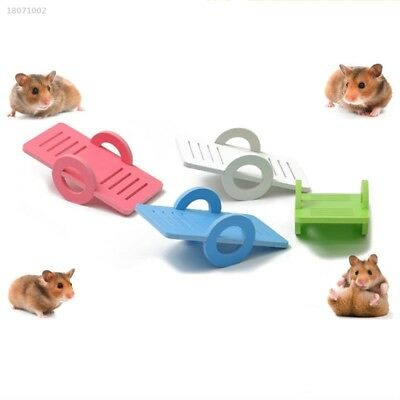Small Animal Hamster Toys Wooden Bridge Seesaw Rat Mouse House Harness 499E