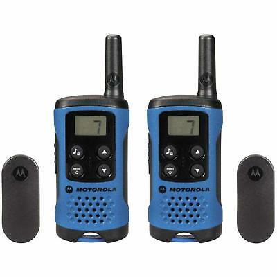 Walkie Talkie Gift Set Pmr 446 Radio Kit 4km Range Lcd 8 Channels Blue 2 Pack