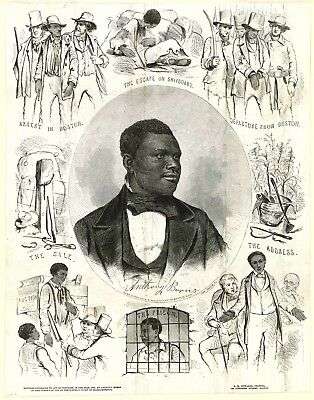 11x14 Art Print-Fugitive Slave Anthony Burns Surrounded by Scenes of His Life