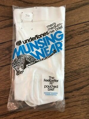 VTG Munsingwear Kangaroo Medium Rise Pouched Brief USA Underwear 32 White Pouch