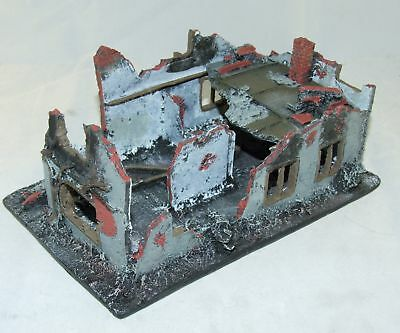 CONFLIX by Bachmann 6510 Haus Ruine Diorama 160 x 100 mm Wargames 15 mm