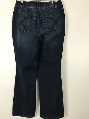LANE BRYANT TIGHTER TUMMY TECHNOLOGY WOMEN'S STRETCH JEANS SIZE 16 ~ BOOT 35x31