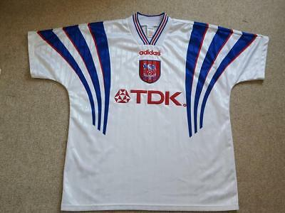 Crystal Palace Xl 1996 1997 Away Football Shirt Jersey Vintage Adidas Tdk  White 654eb7808