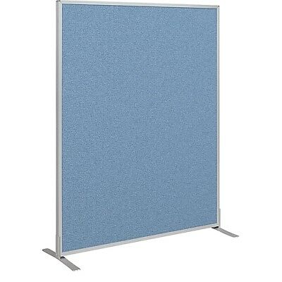 Office Cubicle Wall Divider Partition Standard Modular Panel Blue 5'H x 4W 66216
