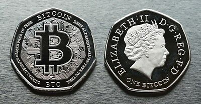 Extremely Rare BITCOIN Collectors Coin for Albums/Collections/Coin Hunt 50p NEW