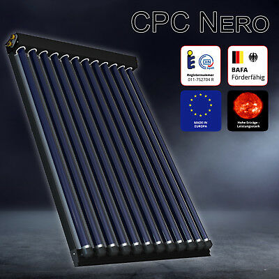 Solarbayer CPC Nero Evacuated Tube Solar Collector, solar thermal, dhw + heating