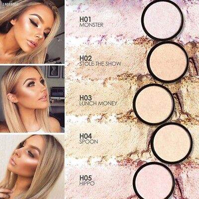 Contour Makeup Highlight Highlighter Powder Cosmetic Shiny Lighten Skin 87FC