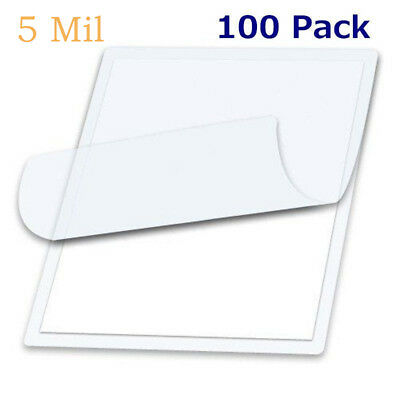 5 Mil 9 x 11.5 Inch Clear Multifunction Home Office Thermal Laminating Pouches