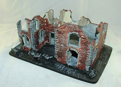 CONFLIX by Bachmann 6509 Haus Ruine Diorama 160 x 100 mm Wargames 15 mm