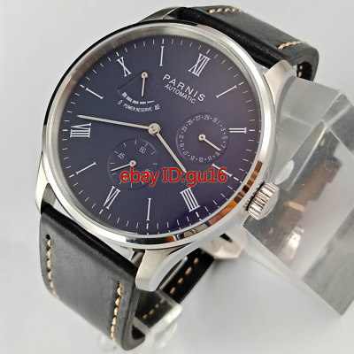 Parnis 42mm Calendar watch date power reserve seagull automatic mens watch 2471