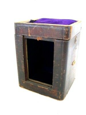Antique 19th Century Carriage Clock Travelling Box / Case with Velvet Interior-