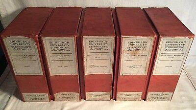 RARE vintage EDINBURGH UNIVERSITY STEREOSCOPE ANATOMY Medical Set 1-5 Complete