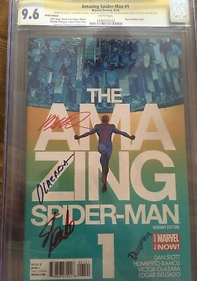Amazing Spider-Man #1 CGC Multiple Signed. 9.6 Variant Cover Stan Lee