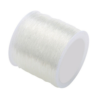 1 Roll 100Meters Clear Elastic Stretch Beading Thread Wire Cord String 0.6mm