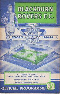 Blackburn Rovers V Leicester City 13 Jan 1965 Vgc. Discount Postage!