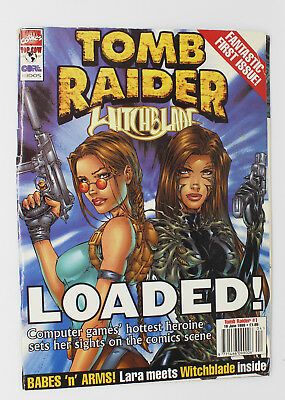 Tomb Raider Witchblade Comic, Loaded! First Issue, Lara Croft, 1999, Marvel