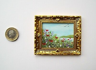 Doll House Miniature Original Handmade 1/12Th Scale Ooak Painting Picture