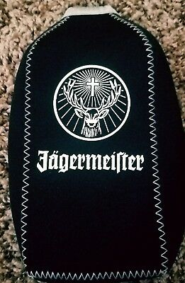 Jagermeister Insulated Bottle Sleeve Black- Gray Trim  with Zipper  750 ml Cozy